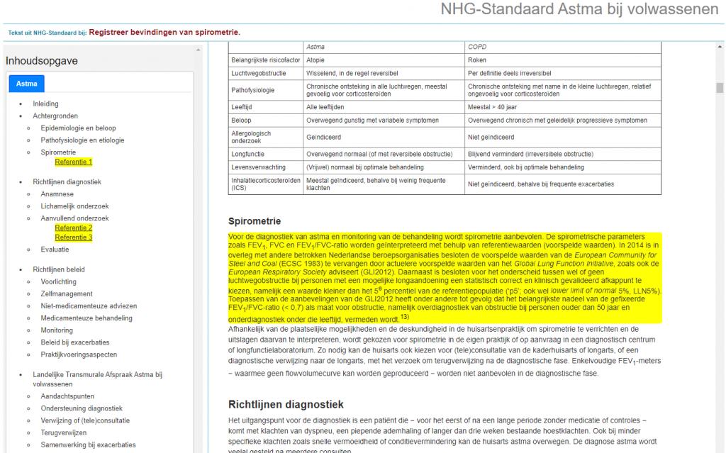 Link naar NHG-Standaard in NHGDoc